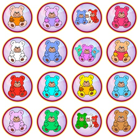 eyecatcher: round pastell colored circles with teddies