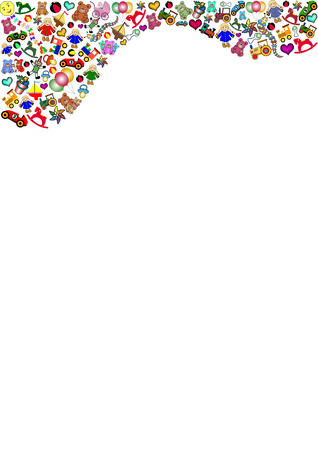 toys clipart: toys in the top Illustration