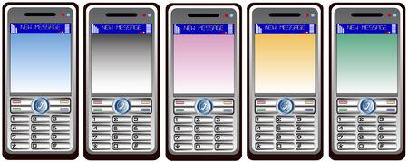 mobil: five mobil phones