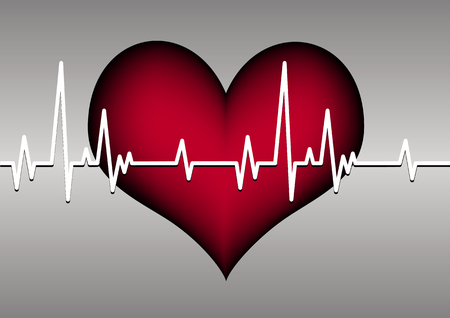 heart and cardiogram Vectores