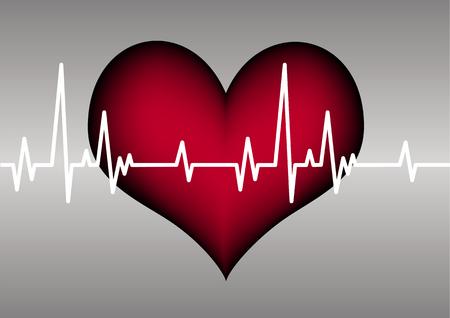 heart and cardiogram Stock Vector - 7879559
