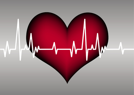 readout: heart and cardiogram Illustration