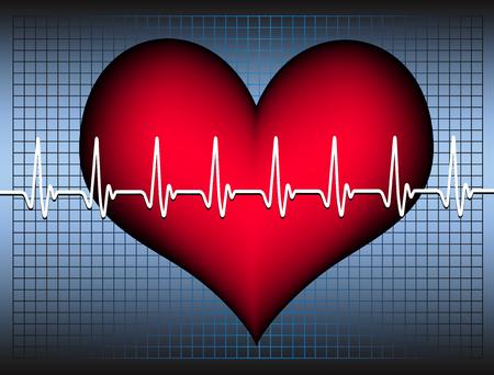 heart and cardiogram Stock Vector - 7879562