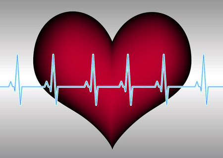 heart and cardiogramm Stock Vector - 7879554