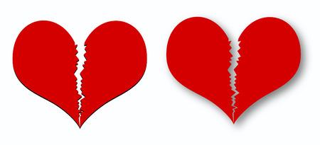 two broken hearts Stock Vector - 7879568