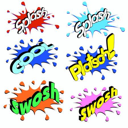 advertising slogans in comic style Illustration