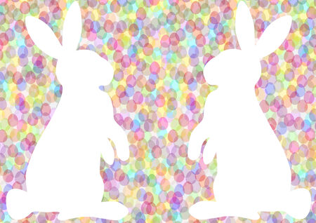 easter background with white rabbit