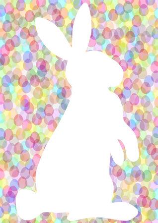 silhouette lapin: arrière-plan de Pâques avec le lapin blanc