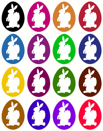colorful isolated easter decoration Vector