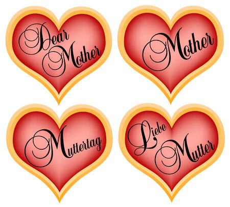 gratulation: mothers day hearts