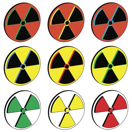 Isolated Radioactivity-Icons Stock Vector - 9372608