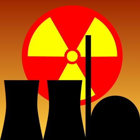 nuclear power station Stock Vector - 9379193