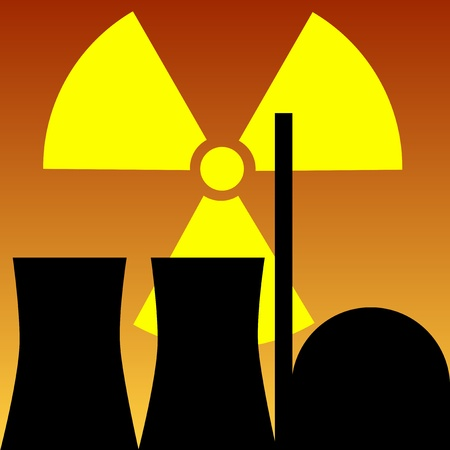nuclear power station Stock Vector - 9379192