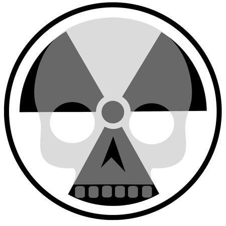 radiactividad: radiactividad icono con cr�neo Vectores