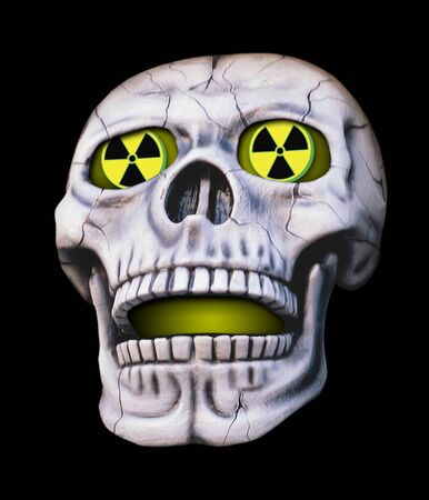 radioactive sign: Nuclear  Skull