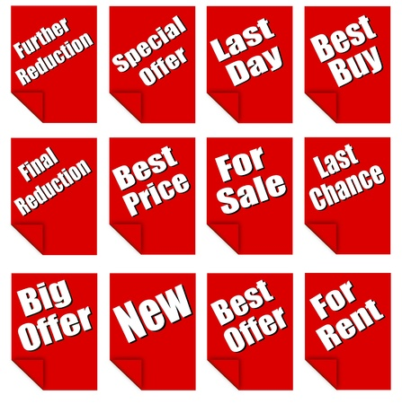 red advertising sheets Vector