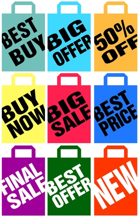 advertising shopping bags Stock Vector - 10942859