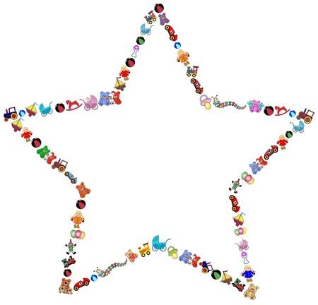 star toys border Vector