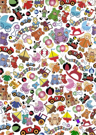 toys background Stock Vector - 11501464
