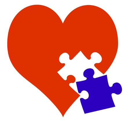 Red Heart with missing piece