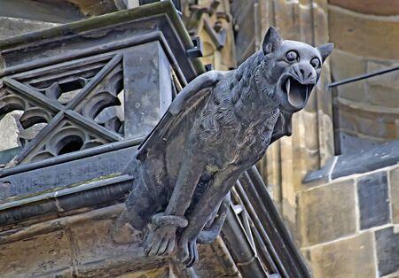 gargouille: Gargoyle on the Hradcany in Prague
