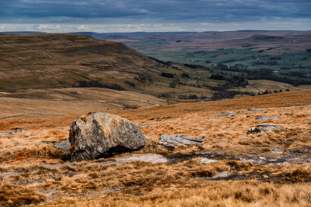 Heading from Hawes via Hadrwaw along the Pennine Way to Great Shunner Fell in the Yorkshire Dales