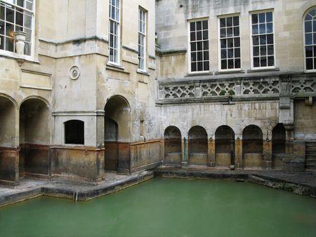 Ancient Roman baths. Bath, England. photo