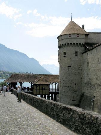 chillon: The Chillon Castle in Montreux, Switzerland.