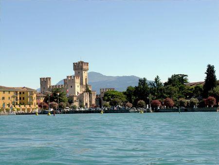Lake Garda. The town of Sirmione. Italy. photo