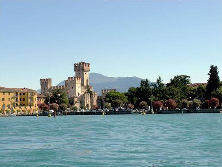 sirmione: Lake Garda. The town of Sirmione. Italy.