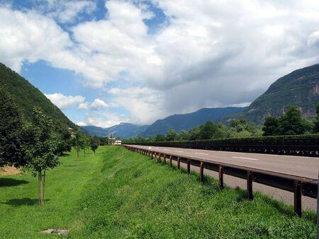 Highway in Alps. photo