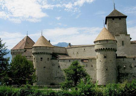 The Chillon Castle in Montreux, Switzerland.