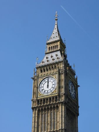 12 oclock: 12 oclock on Big Ben, London - New Year is coming.
