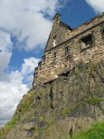 lothian: One of the walls of Edinburgh Castle by day Stock Photo