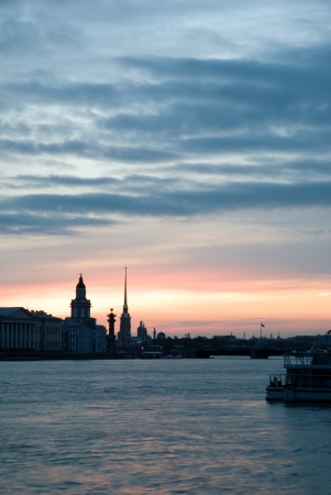 White nights of St.Petersburg, Russia.  photo