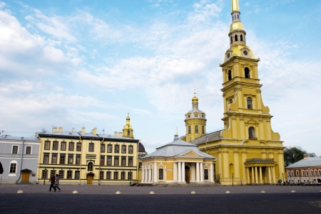 Peter and Paul Cathedral in Peter and Paul Fortress in St.Petersburg, Russia  photo