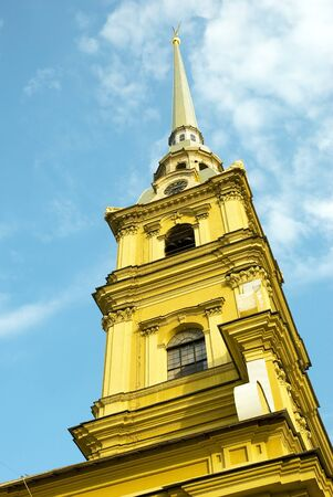 Peter and Paul Cathedral in the Peter and Paul Fortress in St. Petersburg, Russia photo