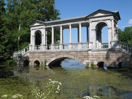 Marble Bridge (1770 - 1776), Tsarskoye Selo (Pushkin), St. Petersburg, Russia.