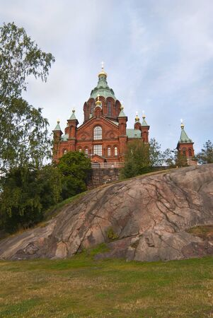 Uspensky cathedral in Helsinki, Finland. Built in 1868, it is the largest Orthodox cathedral in Western Europe.