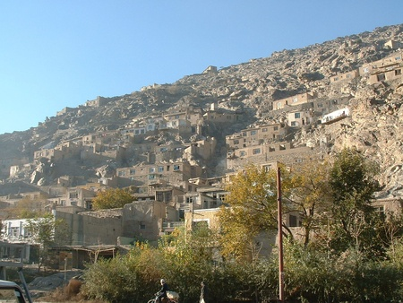 afghanistan: Houses on hill Kabul Stock Photo