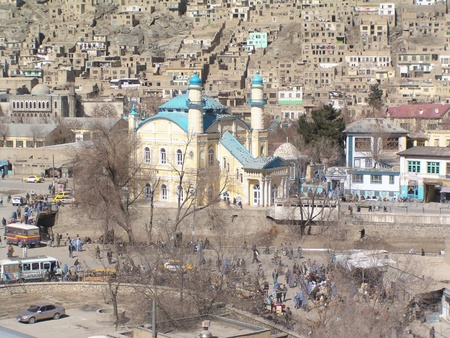 afghanistan: mosque in good condition Kabul