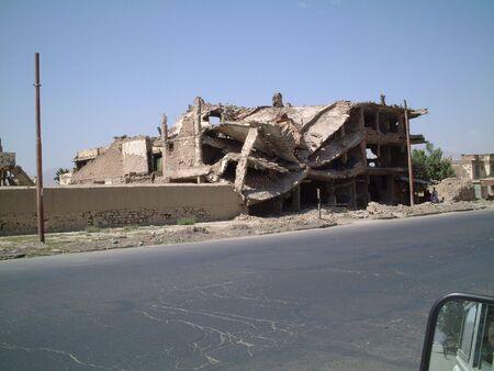 afghanistan: Ruined building Kabul