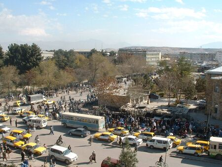 afghanistan: Street scene Kabul