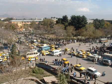 afghanistan: Traffic Intersection Kabul Editorial