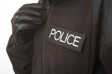 Police zip up jacket
