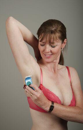 underarm: Underarm shaving Stock Photo