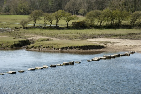 stepping: Stepping stones across the River Ewenny Wales