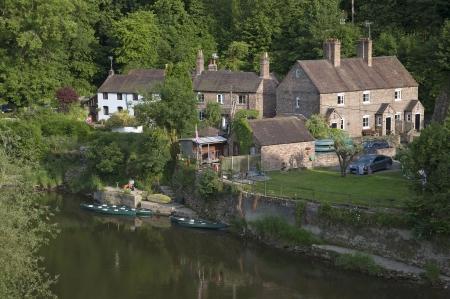 severn: The River Severn at Ironbridge in Shropshire England UK