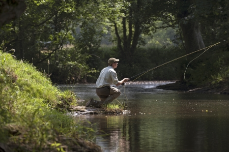 waterways: Fly fishing on an English river
