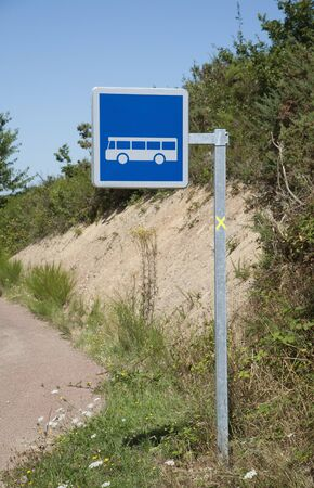 French bus stop sign